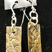 Hand Hammered Brass/Copper Earrings
