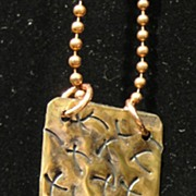 Hammered Brass/Copper Necklaces
