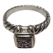 Sterling and 14 Karat David Yurman Diamond Ring