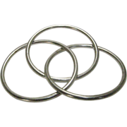 Sterling  Set of 3 Mexican Intertwined Bangles