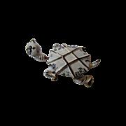 Rare Signed Carnegie Goldtone and Enamel Tremblant Turtle