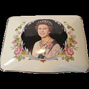 Queen Elizabeth II Silver Jubilee Dresser Box