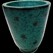 Gustavsberg Sterling Silver Over Pottery Vase