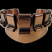 Vintage Renoir Copper Mid Century Modernist Cuff Bracelet