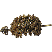 Vintage Etruscan Style Hair Ornament in Golden Tones