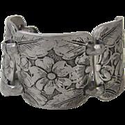 Vintage 1960's Embossed Aluminum Bracelet