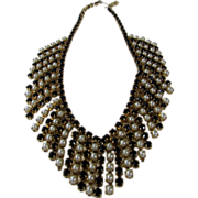 Vintage Festoon With Faux Pearls and Faux Onyx Beads