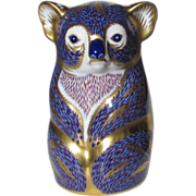 Royal Crown Derby Koala Imari Paperweight Decorated in Blue, Red and Gold