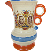 Vintage Coronation Pitcher 1937 Celebrating George VI and Queen Elizabeth With Future Queen Elizabeth II as a Child - Red Tag Sale Item