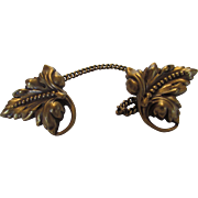Joseff Sweater Clip Decorated with Goldtone Acanthus leaves
