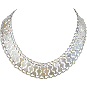 Sterling Silver Far Fan Chain Necklace From Mexico