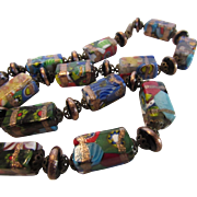 Spectacular Vintage Murano Beads in a Myriad of Colors Necklace