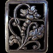 Sterling Silver Danish Designer Floral Pin