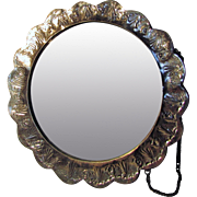 Antique Silver Repousse  Mirror