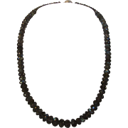 Artisan Labradorite Graduated Bead Necklace With Sterling Clasp