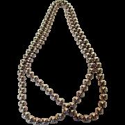 Sterling Silver Fine Italian Bead Necklace