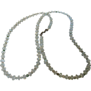 Artisan O..O.A.K. Aquamarine and Jade Bead  Necklace with Sterling Silver Serpent Themed Clasp