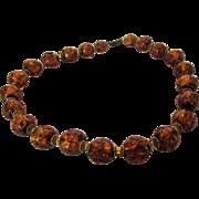 Vintage Bronze Venetian Bead Necklace