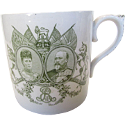 King Edward VII and Queen Alexandra 1902 Royal Coronation Commemorative Mega Mug by Royal Doulton
