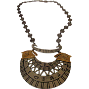 Vintage Art Egyptian Revival Style Necklace
