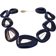 O.O.A.K. Lapis Lazuli Bead Necklace On Gold Chain