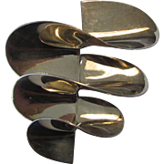 Sterling Silver Mid Century Modern Pin Signed Mexico