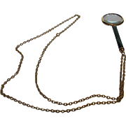 Vintage Jeweled Magnifier On a Goldtone Chain