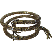 Vintage Coiled Goldtone Bracelet Complete with Tassel Ends