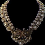 Vintage De Mario Signed Faux Pearls in Classic Necklace