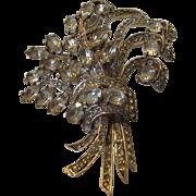 Eisenberg Original Massive Sterling Silver Bouquet Pin