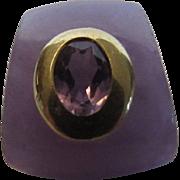 Jadite Slide Enhancer in Lavender and 14 Karat Yellow Gold Accent