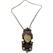 Sterling Silver Magnificent Gemstone Pendant on Sterling Silver Chain