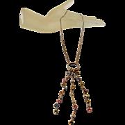 18 Karat White Gold Diamond, Sapphire Pendant on 18 Karat Chain