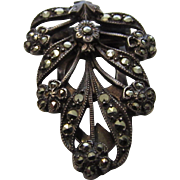 Sterling Silver Vintage Marcasite Clip