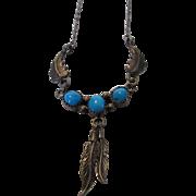 Sterling Silver Designer Turquoise Necklace