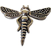 Sterling Silver Huge Dragonfly Pin or Pendant