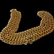 William De Lillo Goldtone Chain