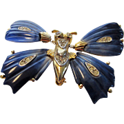 Vintage Tremblant Enameled Butterfly Pin