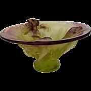 Daum France Pate De Verre Iris Bowl