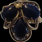 14 Karat Rose Gold Lapis Lazuli Ring