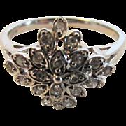 10 Karat White Gold Diamond Ring