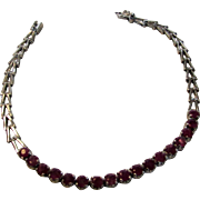 Sterling Silver Ruby Bracelet With 17 Natural Rubies