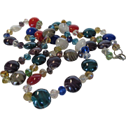 Vintage Glass Bead Necklace in a Variety of Colors