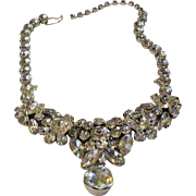 Eisenberg Adjustable Necklace With Spectacular Swarovski Crystals Throughout