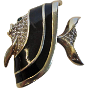 Vintage Panetta Green Eyed Fish Pin