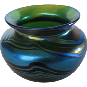 Orient and Flume Mini Vase in  Swirling Blue Hues
