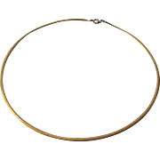 14 Karat White and Yellow Gold Reversible Necklace