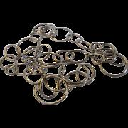 Sterling Silver Unique Open Link Necklace