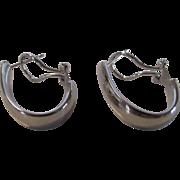 14 Karat White Gold Hoop Earrings for Pierced Ears
