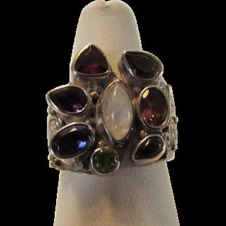 Sterling Silver Sajen Gemstone Ring